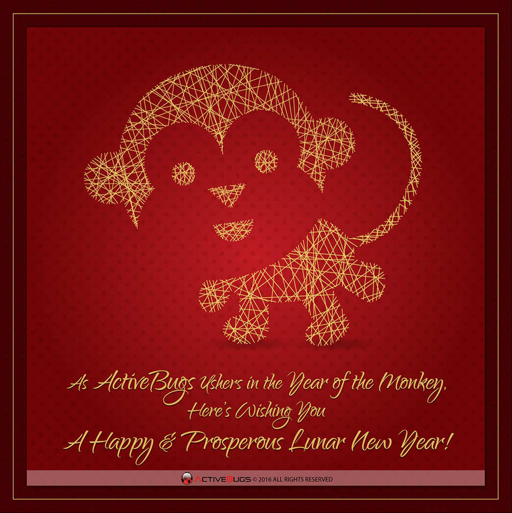 ActiveBugs Wishes You A Happy Chinese New Year!